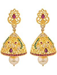 8b8bf65a1 Voylla Jhumki Earrings for Women (Golden)(8907617889078)