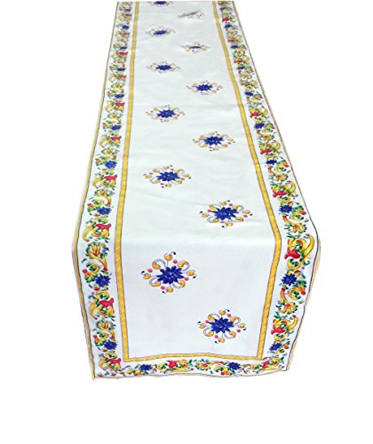 Miyanbazaz Textiles Cotton Table Runner- 14 X 72 Inch Table Linens for the Dining Room Multi Color