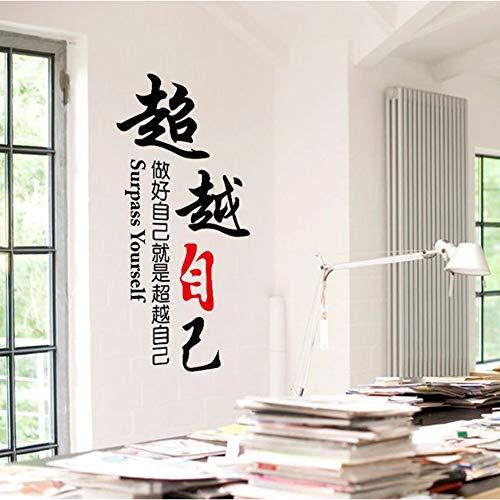 Runinstickers Wandaufkleber DIY Home Decor - Sich Selbst Übertreffen - Briefe Für Design Aufkleber Für Schule Firma Dekoration Poster An Der Wand Aufkleber