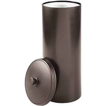 Schon InterDesign Kent Ersatzrollenhalter Mit Deckel, Freistehender Und Kompakter  Toilettenpapierhalter Für Ersatzrollen Aus Kunststoff, Bronzefarben