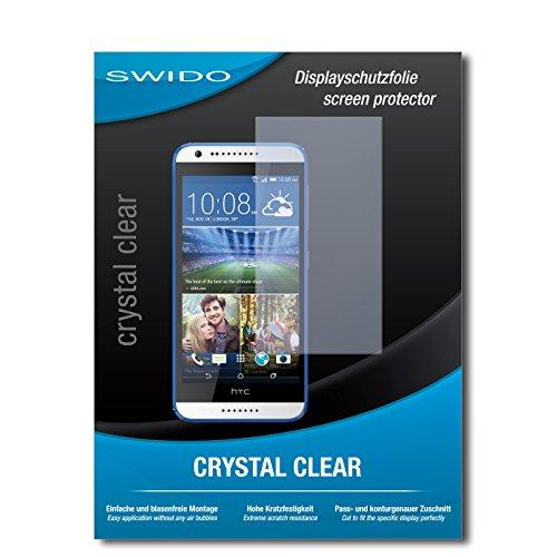 SWIDO Bildschirmschutz für HTC Desire 620G Dual SIM [4 Stück] Kristall-Klar, Hoher Härtegrad, Schutz vor Öl, Staub & Kratzer/Schutzfolie, Bildschirmschutzfolie, Panzerglas Folie