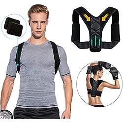 Haltungstrainer - Tencoz Geradehalter zur Haltungskorrektur Gegen Rückenschmerzen, Schulterschmerzen und Nackenschmerzen. Haltungsbandage, Rückenbandage, Rückenstütze für Männer und Frauen