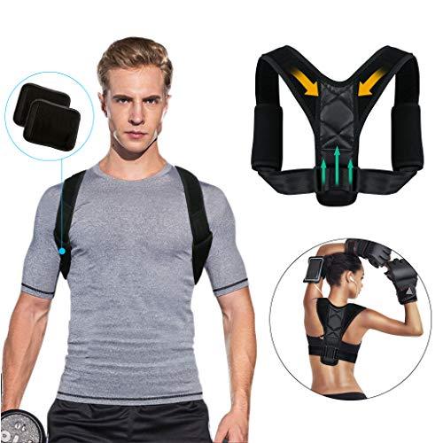 Tencoz deportes postura corrector postura ajustable corsé nuevo apoyo espinal superior para hombres o mujeres-espalda, hombros y cuello alivio del dolor