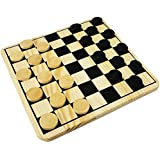 Wooden Draughts Checkers Set by DS