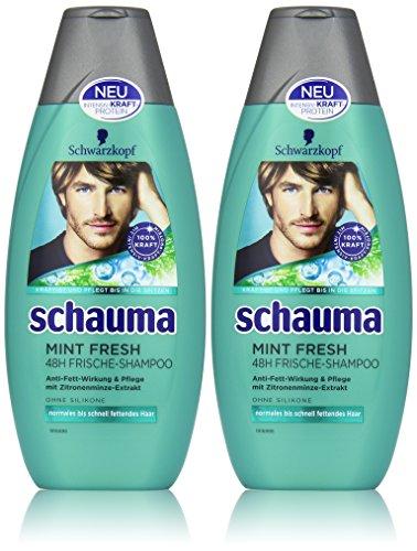 Schwarzkopf Schauma Mint Fresh Shampoo, 2er Pack (2 x 400 ml)