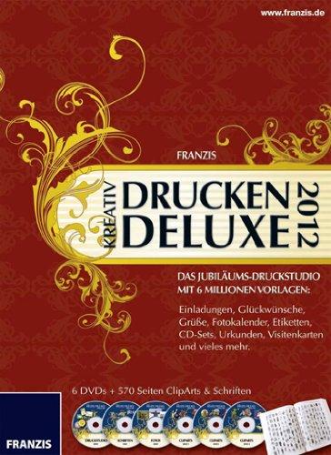 Kreativ Drucken Deluxe 2012 - Schriften und Cliparts