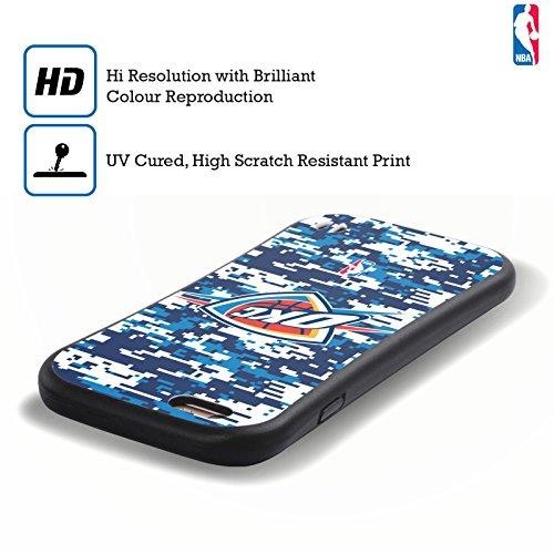Ufficiale NBA Banner Oklahoma City Thunder Case Ibrida per Apple iPhone 6 / 6s Camouflage Digitale