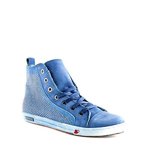 Felmini - Scarpe Donna - Innamorarsi com Jomar 7846 - Sneakers - Pelle Genuina - Blu - 40 EU Size