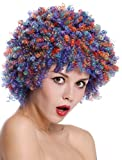 WIG ME UP - SZL-001-colorful Perücke Damen Herren Clown Clownsperücke Afro Locken Halloween Karneval bunt