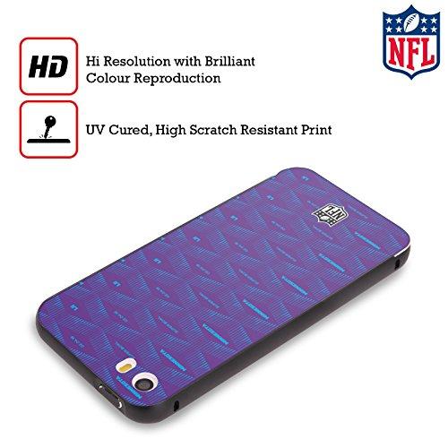 Ufficiale NFL Modelle 2 2018 Super Bowl LII Nero Cover Contorno con Bumper in Alluminio per Apple iPhone 5 / 5s / SE Modelle 4