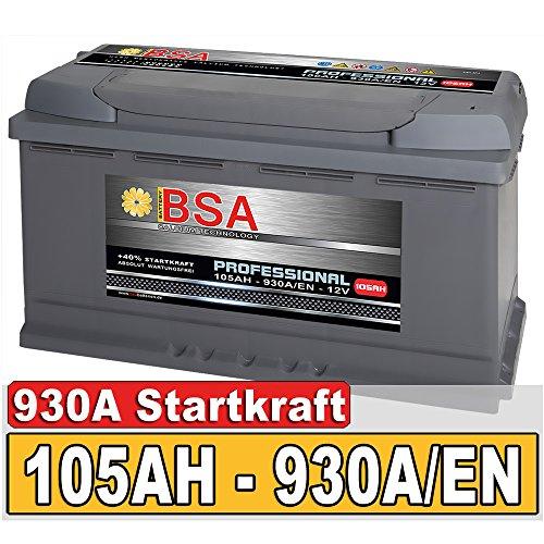 BSA Autobatterie 105Ah 12V 930A/EN ersetzt 100Ah Extreme Startkraft