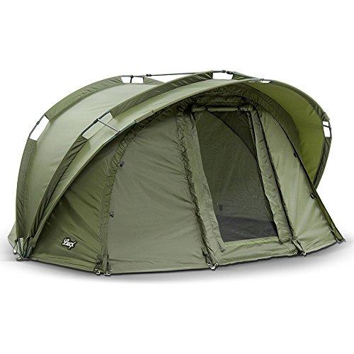 Lucx® Bengal Angelzelt / 1 Man Bivvy / 1 Mann Karpfenzelt / Carp Dome / Fishing Tent / Zelt / Wassersäule 10.000 mm Campingzelt