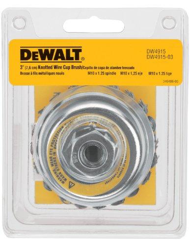 DeWALT Dw4915 7,6 cm par M10 par 1.25 nouée Brosse coupe en acier carbone/.020-inch