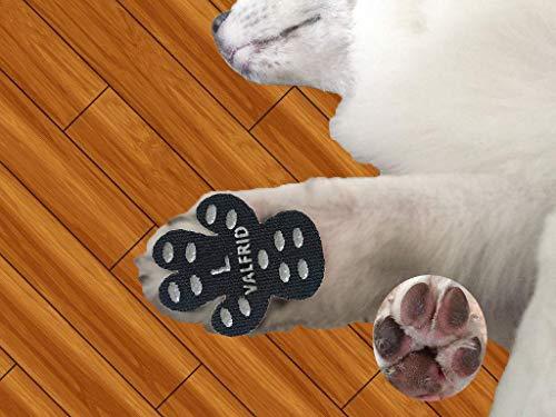 Protezioni Zampa di cane antiscivolo Traction pad 24 pezzi,usa e getta autoadesivo resistente Cane Calze Scarpe per Cani Sostituzione L