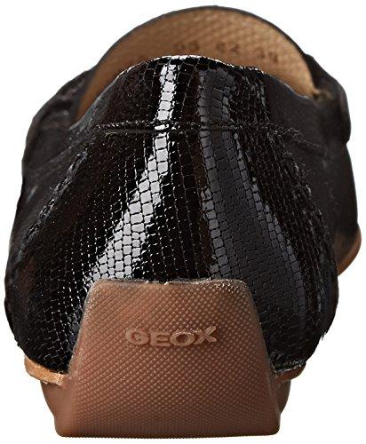 Geox D Italy A, Mocassins femme Noir (Black)