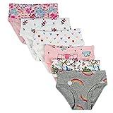 Kidear Bequeme Baumwollene Gemischte Kinder-Unterhosen für Kleine Mädschen. (Eine Packung von 6 Stücke) (Stil6, 5-6 Jahre)