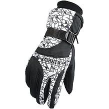 LeRan Guantes de esquí Unisex Winter Warm Waterproof Windproof Snowboard Guantes durables para ciclismo, montañismo, senderismo (adultos / niños)