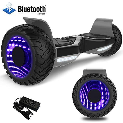 """Mega Motion Hoverboard Elektro Scooter-8.5\"""" Off-Road Hummer -E-Skateboard- LED - All-Road Segway(Schwarz)"""
