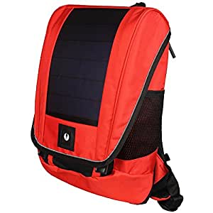 unPlug Lumos Unisex Polyester Solar Red Backpack with 2000mAh Battery