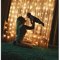 Twinkle Lights Decorations 300 LED Lights for Party, Birthday Decorations Curtain Lights Wedding Party Home Garden Bedroom Outdoor Indoor Wall Decorations, Fairy Lights - Warm White