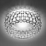 GBYZHMH Ø 50/65 cm Moderne Acryl Caboche Kugel Deckenleuchten, Schlafzimmer, Wohnhaus, Decke Leuchte klare Klassische Luminaria (Farbe: Klar, Größe: 50 cm)