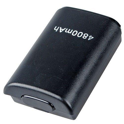 NOIR 4800mah Rechargeable Batterie Pack Pour Manette CONSOLE Sans Fil Xbox 360