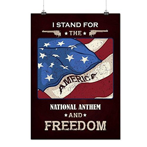 Schmuck Kostüm Monroe Marilyn (USA Patriot Freiheit Gewehr Mattes/Glänzende Plakat A3 (42cm x 30cm) |)
