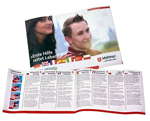 Anleitung Erste Hilfe - A6 - Heft zum Einlegen in Verbandkasten/Erste-Hilfe-Koffer