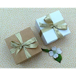 Pack of 6 Small Gift Boxes (Code#B) Cardboard Flat Pack Self Assembly Gift Box suitable for Chocolates, Jewellery, Small Gifts.