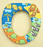 Kid Child Soft Padded Potty Training Toilet Seat Safari Animals for Boys
