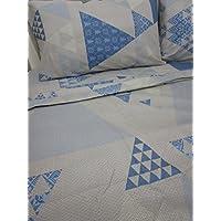 Pago Poco Novita. Collection 2017-2018Complete Double Bed in Soft Microfibre Elvira Alpine Blue