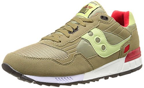 Saucony Shadow 5000 Mens Mesh & Synthetic Trainers Olive - 45 EU