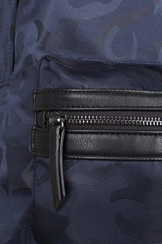 Urban Classics - Camo Jacquard Backpack, Zaini Unisex - Adulto Multicolore (Navy Camo)