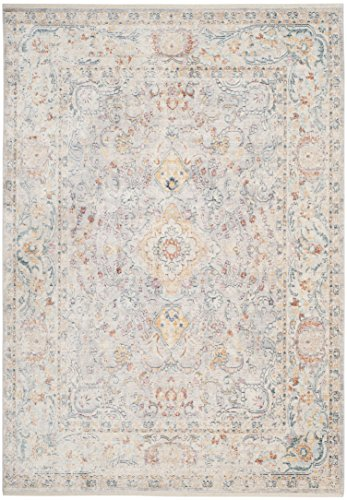 Safavieh Illusion Collection Teppich, Baumwolle, Hellgrau, 152 x 243 x 0.63 cm