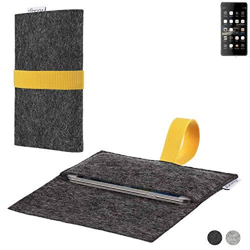 flat.design Handy Hülle Aveiro für Oukitel K4000 Plus passgenaue Filz Tasche Case Sleeve Made in Germany