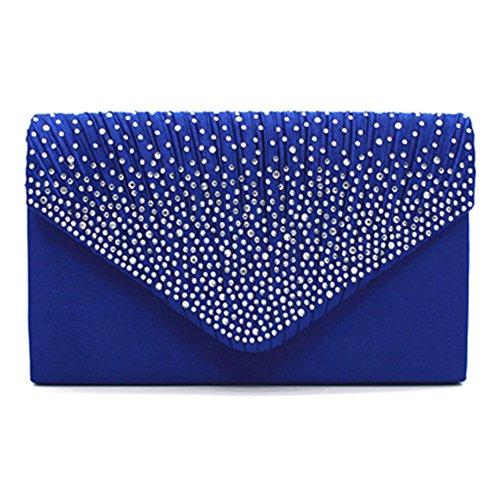 Highdas frizione della busta borsa a tracolla moda donna Cluthes C3 Zaffiro