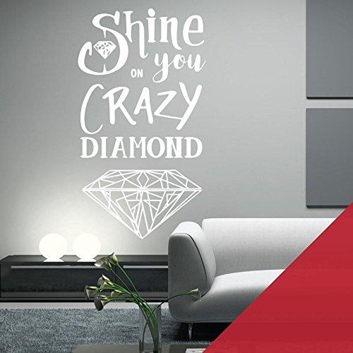 Shine Cherry (Wandaufkleber/Wandaufkleber, Motiv Pink Floyd Shine on You Crazy Diamond, Cherry, XLarge (580 x 1050mm))