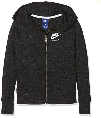 Nike G Nsw VNTG Hoodie FZ Sweatshirt, Mädchen L Schwarz (Schwarz/Segel)