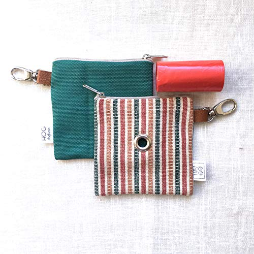Easybag Red/Green Stripe – Portasacchettini igienici per cane