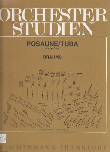 ZIMMERMANN ORCHESTER STUDIEN BRAHMS - TROMBONE / TUBA Klassische Noten Posaune