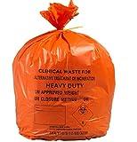 90L groß orange Medizinische Abfälle, stärkegrad Medium Duty Staubbeutel, 25