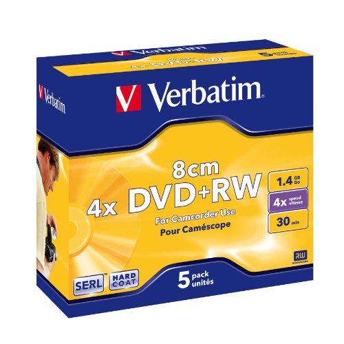 Verbatim 43565 - DVD+RW regrabables Mini 8 cm 1.4