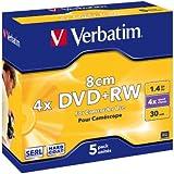 VERBATIM - OPTICAL MEDIA DVD+RW 1.4GB 2X 5PK