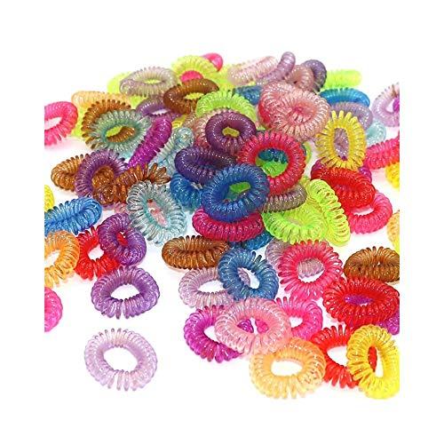 Kangfang 30 Stücke Transparent Telefonleitung Schnur Stirnbänder Haar Elastische Gummibänder Elastische Haarbänder Mädchen Haargummi Für Haargummis (Telefonleitung Schnüre)