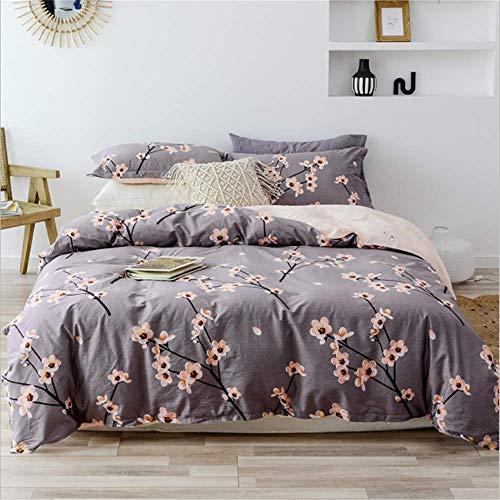 SHJIA Bettwäscheset Twin Queen Size Bettlaken aus weicher Baumwolle Bettwäsche Kissenbezüge F 200x230cm - Twin-size-bettlaken