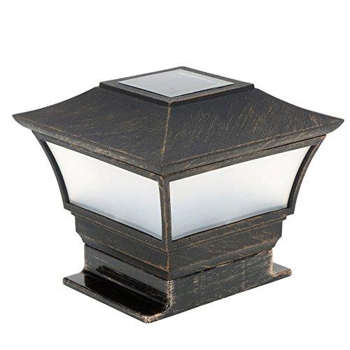 HCCX 2solarbetriebene Lampe LED Garten Licht, wasserdicht Outdoor Säule LED Solar Leuchte Lampe Court Yard Zaun Dekoration Lampe - Garten Post Mount