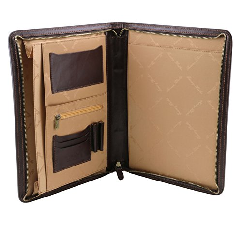 Tuscany Leather Ottavio - Porte-document en cuir Marron foncé Porte-document en cuir Marron foncé