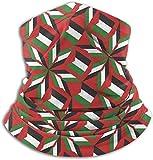 hgbygvuy Fleece Neck Warmer Men & Women Soft Mask Palestine Flag Artascope Flower Neck Gaiter Tube Ski Face Mask Balaclava Half Mask Motorcycling Face Scarf Bandana, Mask, Headband & Beanie