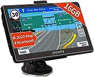 Bluetooth Navi Navigation für Auto Navigationsgerät LKW Navigationssystem PKW 7 Zoll 16GB Kostenloses Kartenupdate mit Freis