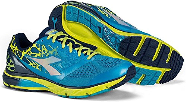 Diadora - Zapatillas running Mythos BlueShield C6052 (color azul marino clásico/azul fluorescente), para hombre